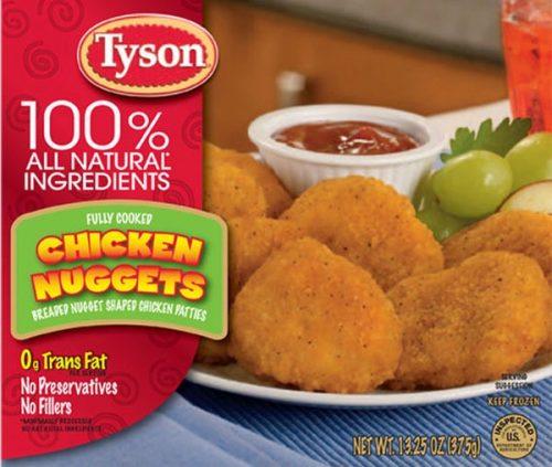 Tyson Recalls Chicken Nuggets Over Rubber Contamination